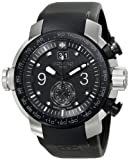 Zodiac ZMX Men's ZO8524 ''Special Ops'' Stainless Steel Watch with Black Rubber Band