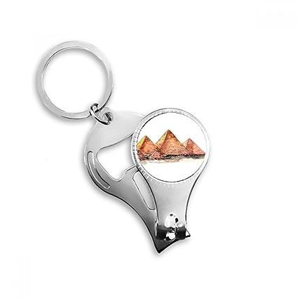Llavero con pinza de uñas, diseño de pirámide de Faja de ...