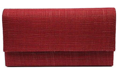 Léon montane - Pochette Cérémonie Aube en sisal Bordeaux - Rouge Taille unique