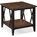 Magnussen T1908 Fleming Wood and Metal Rectangular End Table For Sale