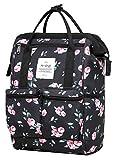 DISA 13'' Mini Small Fashion Backpack Purse | Fits 12-inch iPad Pro | Rose Black