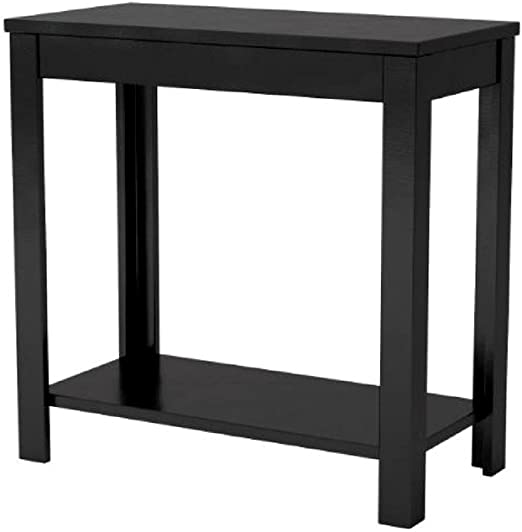 Amazon.com: Loft End Table Black Wood Living Room Dorm Small ...