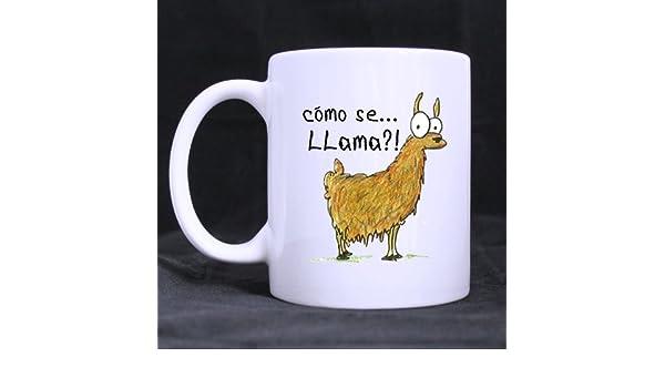 Best con texto Como Se Llama diseño de taza de café o té taza, de cerámica tazas de Material, de color blanco - 11 oz: Amazon.es: Hogar