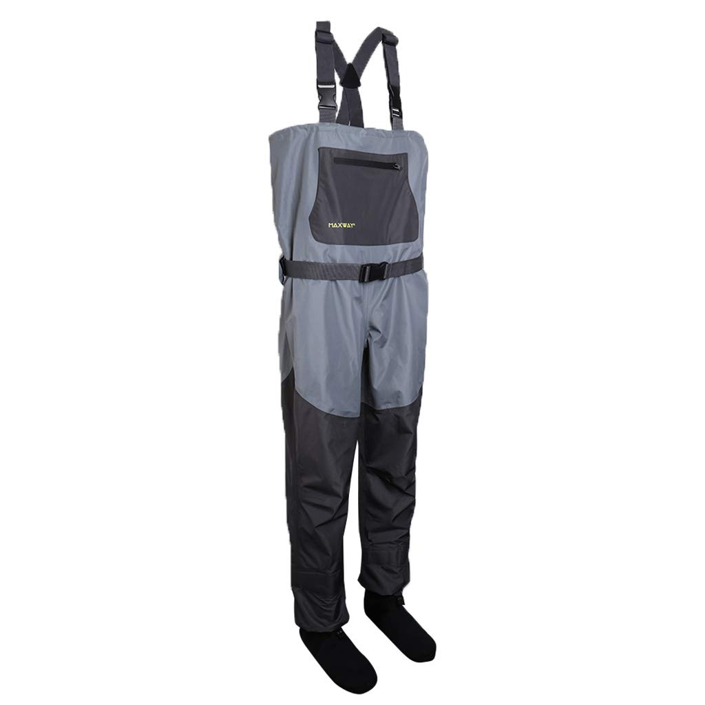 Small kesoto Waterproof Fishing Wader Breathable Chest Waders for Fly Fishing Rafting
