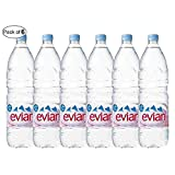 Evian Natural Mineral Water- 1.5L (Pack of 6)
