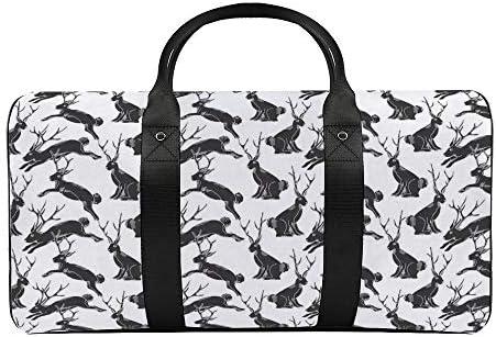 黒いジャッカロペ1 旅行バッグナイロンハンドバッグ大容量軽量多機能荷物ポーチフィットネスバッグユニセックス旅行ビジネス通勤旅行スーツケースポーチ収納バッグ