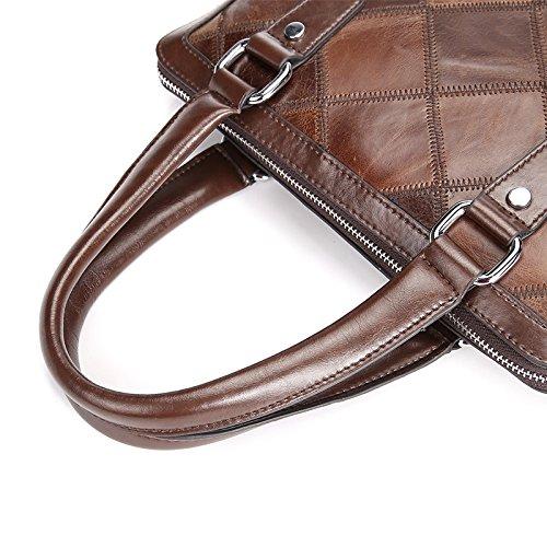 Mefly Männer Den Kopf Schicht Vertikale Business Briefcase Modische Schultertasche Schultertasche Trend Rucksack