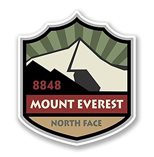 3 Pack - Mount Everest Vinyl SELF ADHESIVE STICKER Decal - Sticker Graphic - Construction Toolbox