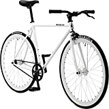 Pure Fix Glow in the Dark Fixed Gear Single Speed Bicycle, Zulu Glow White, 50cm/Small