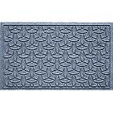 Bungalow Flooring Waterhog Doormat, 2' x 3', Skid Resistant, Easy to Clean, Catches Water and Debris, Ellipse Collection, Bluestone