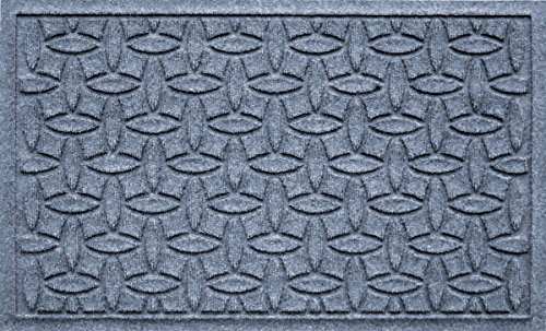 Waterhog Classic Floor Mat - Bungalow Flooring Waterhog Doormat, 2' x 3', Skid Resistant, Easy to Clean, Catches Water and Debris, Ellipse Collection, Bluestone