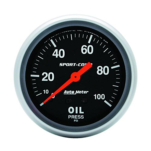(Auto Meter Sport-Comp 66.7Mm 0-100 Psi, Mechanical Oil Pressure By Jm Auto Racing (3421))