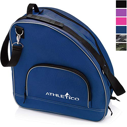 - Athletico Ice & Inline Skate Bag - Premium Bag to Carry Ice Skates, Roller Skates, Inline Skates for Both Kids and Adults (Blue)