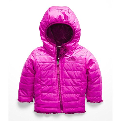 The North Face Infant Reversible Mossbud Hoodie - Azalea Pink & Dramatic Plum - 6M (Light North Mountain Face Jacket)