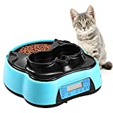Sailnovo Automatic Pet Feeder 4 Meals Programmable Cat Feeder Water Trays for Dog Puppy For Sale