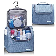 WANDF Hanging Large Toiletry Bag, Travel Organizer Bag for Makeup and Toiletries, Men Women Waterproof (M – Blue, Medium…