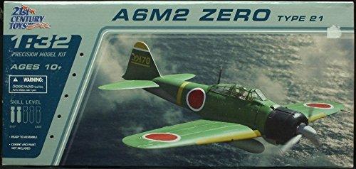 21st Century Toys Aircraft (21st Century Toys 1:32 A6M2 Zero Type 21 Plastic Aircraft Model Kit #22101)