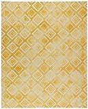 Rivet Modern Geometric Rug, 5' x 8', Yellow