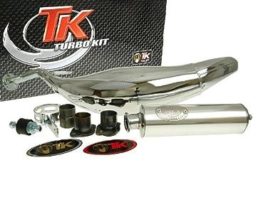 Turbo Kit Carreras 80 cromo Tubo de escape para Derbi Senda Drd 50, Gilera Rcr Enduro 50, RCR/SMT 50, SMT SM 50: Amazon.es: Coche y moto
