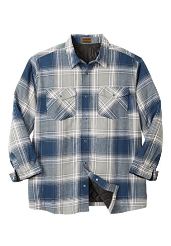 Quilted Plaid Flannel Work Shirt - 9