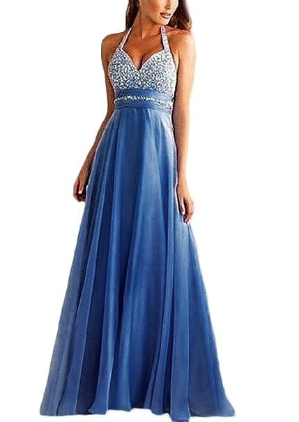 ... Descubierta Vestido Vestido De Noche Vestidos Maxi Vestido Coctel Princess Vestidos De Graduación Vestido Fiesta Estilo: Amazon.es: Ropa y accesorios