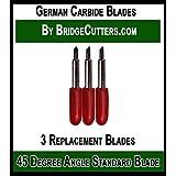 German Carbide Premium Blade Replacement Cutting Blades for Craft Cutting Machines Cricut, Bridge, Explore, Refine, Scan N Cut, 3 blades