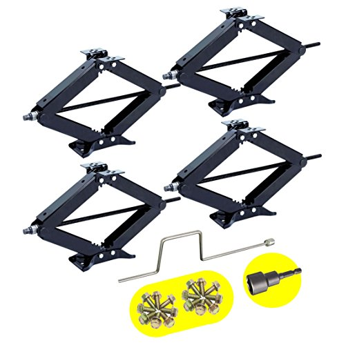 set-of-4-5000-lb-24-rv-trailer-stabilizer-leveling-scissor-jacks-w-handle-power-drill-socket-model-2