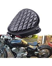 Motorfiets leer solo zitting, motorfiets zitting met lente bobber Sportster XL1200 883 48 Dyna Softail