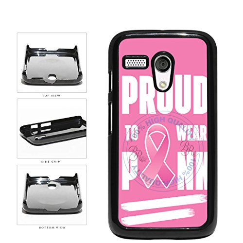BleuReign(TM) Proud To Wear Pink Ribbon Plastic Phone Case Back Cover For Motorola Moto G