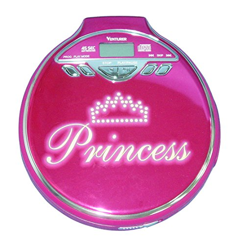 - Venturer Personal CD Player with Stylish Princess Design