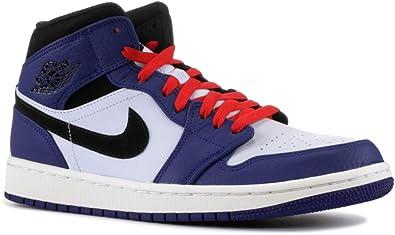 Amazon Com Jordan 1 Mid Se Deep Royal Blue Black Basketball