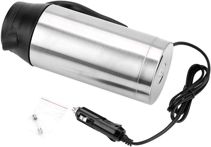 Caldera portátil del coche del viaje de 750ml 24V, botella eléctrica del calentador de agua de la caldera del camión del coche para la consumición del café del té
