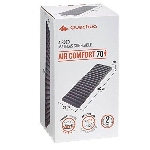 Colchón hinchable de camping individual Arpenaz Air Confort 70 ...