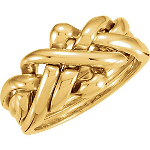 Ladies' Puzzle Ring in 14K Yellow Gold ( Approximate Size 7 ) 14k Yellow Gold Puzzle Ring