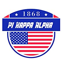 Pi Kappa Alpha Fraternity USA Stars in Letters Sticker Decal Exclusively Designed 3 Inch Greek for Window Laptop Computer Car Pike