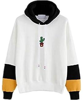 5014e80c85641 Gogofuture Sweats à capuche Femme ElÉGant Automne Hiver Manches Longues  Décontractée Impression Hooded Sweatshirt Tops Patchwork