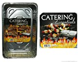 Catering Essentials Full Size Deep Foil Steam Table Pan - 15 Count and Catering Essentials Half Size Deep Foil Steam Table Pan - 30 Count