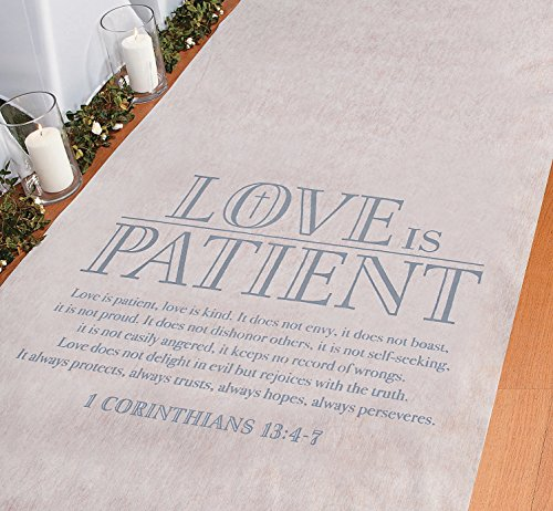 Love is Patient Aisle Runner 3 ft. x