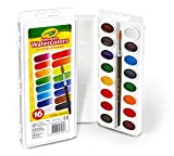 Crayola 16 Semi-Moist Oval Pans Watercolor Set with Brush