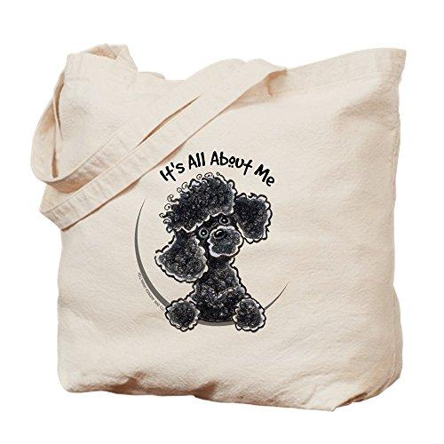 Poodle Pampered - CafePress - Black Poodle Lover - Natural Canvas Tote Bag, Cloth Shopping Bag