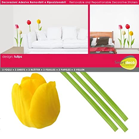 Smart deco furniture London Ontario Image Unavailable Surviving College Amazoncom Smartdeco 14 Piece Tulips Wall Decal Home Kitchen