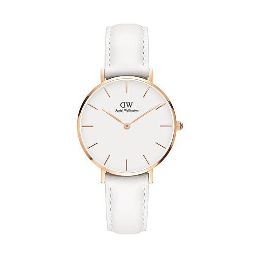 Daniel Wellington - Reloj de pulsera analógico para mujer cuarzo One Size, Blanco, Blanco: Amazon.es: Relojes
