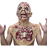 molezu Walking Dead Full Head Mask, Resident Evil Monster Mask, Zombie Costume Party Rubber latex Mask for Halloween