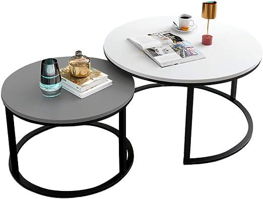 Mesas de Centro Redondas Mesa Auxiliar Salon Modernas Mesa de Café ...