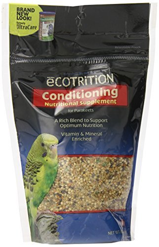 Ecotrition Conditioning Health Blend Parakeet Food, 8-Ounce (A504) by eCOTRITION
