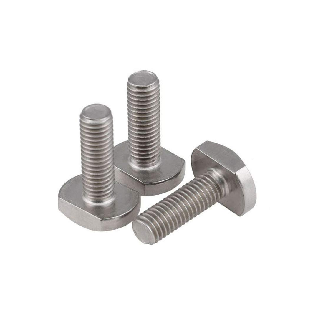 M5 M6 M8 Bolts For T-Slot GB37 Stainless Steel T Bolt T Screw Square Bolts T-Head Screw Chute T-Bolt M6x45-2pcs by NSSTK