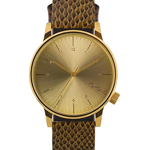 Watch Carlo Leather Monte (Komono KOM-W2554 Men's Winston Monte Carlo Brown, Gold Leather Band with Gold Dial Watch)
