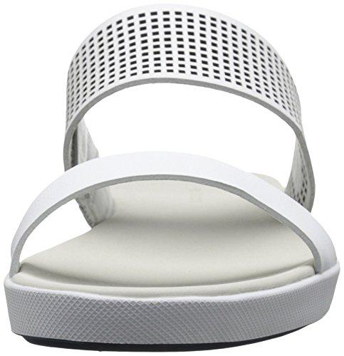 Natoy Women's Lacoste Sandal Slide White Flat 58qCwdq