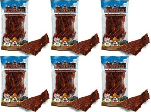 Loving Pets Pure Buffalo Meat Jerky Strips 1.31Lbs (6 x 3.5oz) ()