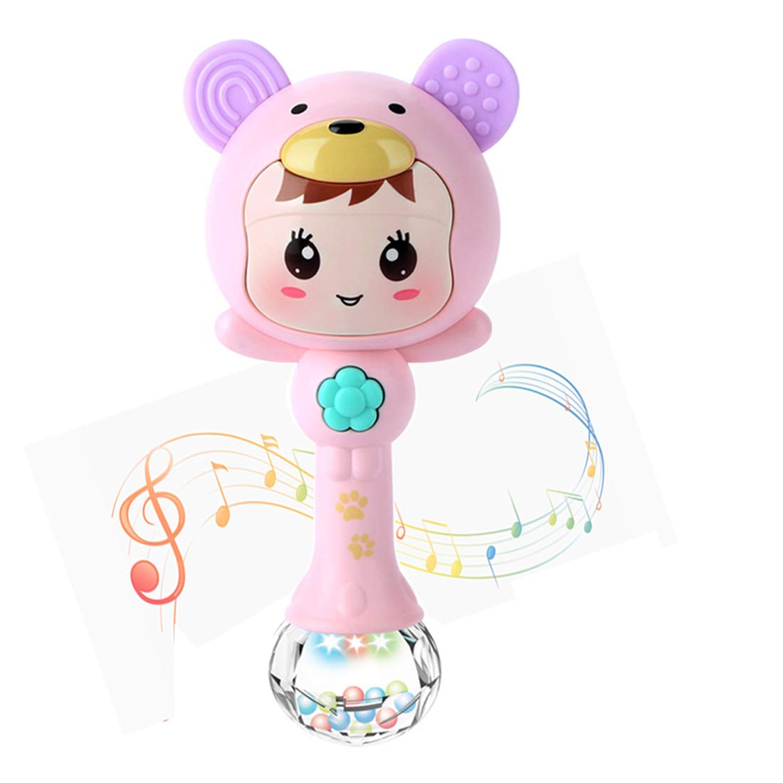 LOFEE Rattle Toy for 3-12 Months Old Baby Girl, Teether for Infants Baby 0-12 Months Old Toy for 6-18 Months Old Baby Girl Musical Toy for 1-3 Year Old Baby Girl 3-9 Month Old Baby Girl Toy